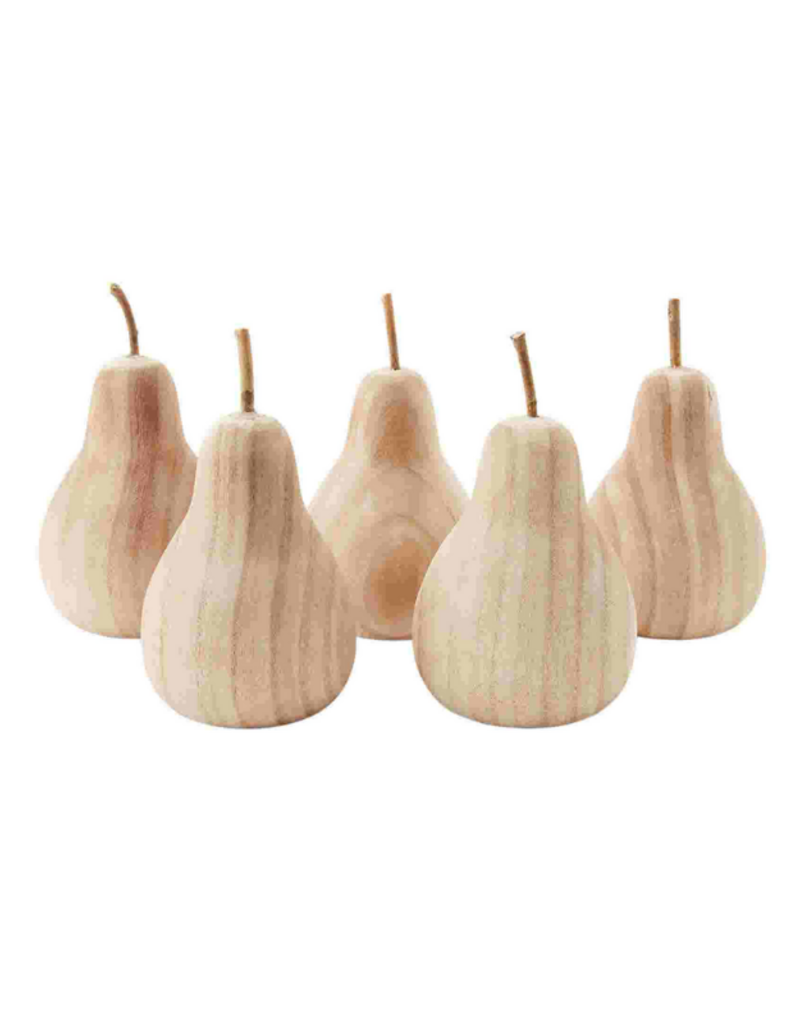 Large Paulownia Wood Pear