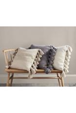 Square Tassel Pillow in Cream