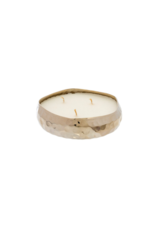 Indaba Trading Amber Spruce Multi-Flame Silver Candle Small