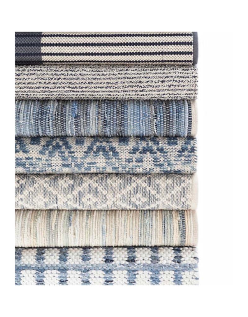 Dash & Albert Dash & Albert Denim Chindi Woven Cotton Rug