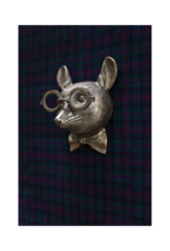 Louie the Mouse Brass Wall Mount