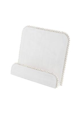 White Washed Beaded Cookbook Holder