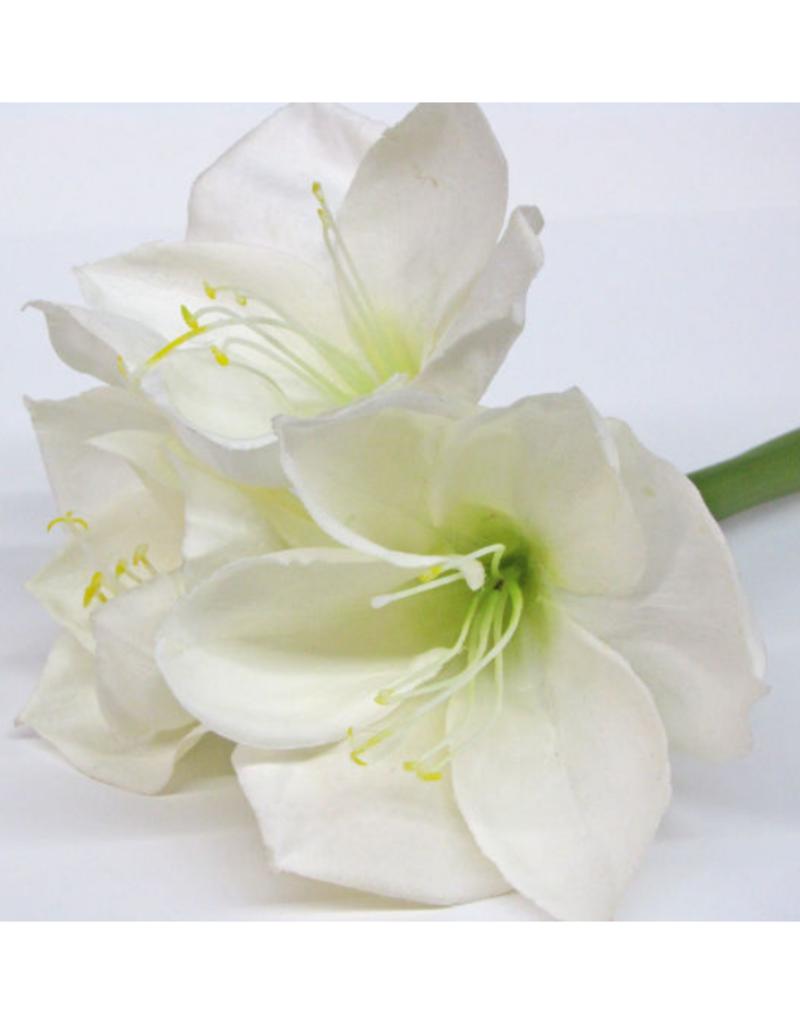 "Faux White Amaryllis Stem 26"""
