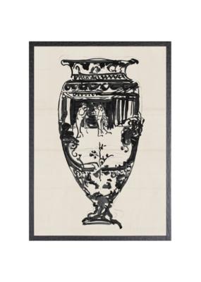 Cheret Vase Small Art Print II