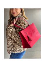 Brave Brown Bag Shopper Madi in Cranberry by Brave Brown Bag