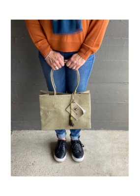 Brave Brown Bag Shopper Madi in Olive by Brave Brown Bag