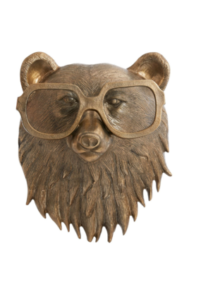 Beatrice the Bear Brass Wall Mount