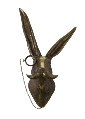 Eric the Hare Brass Wall Mount