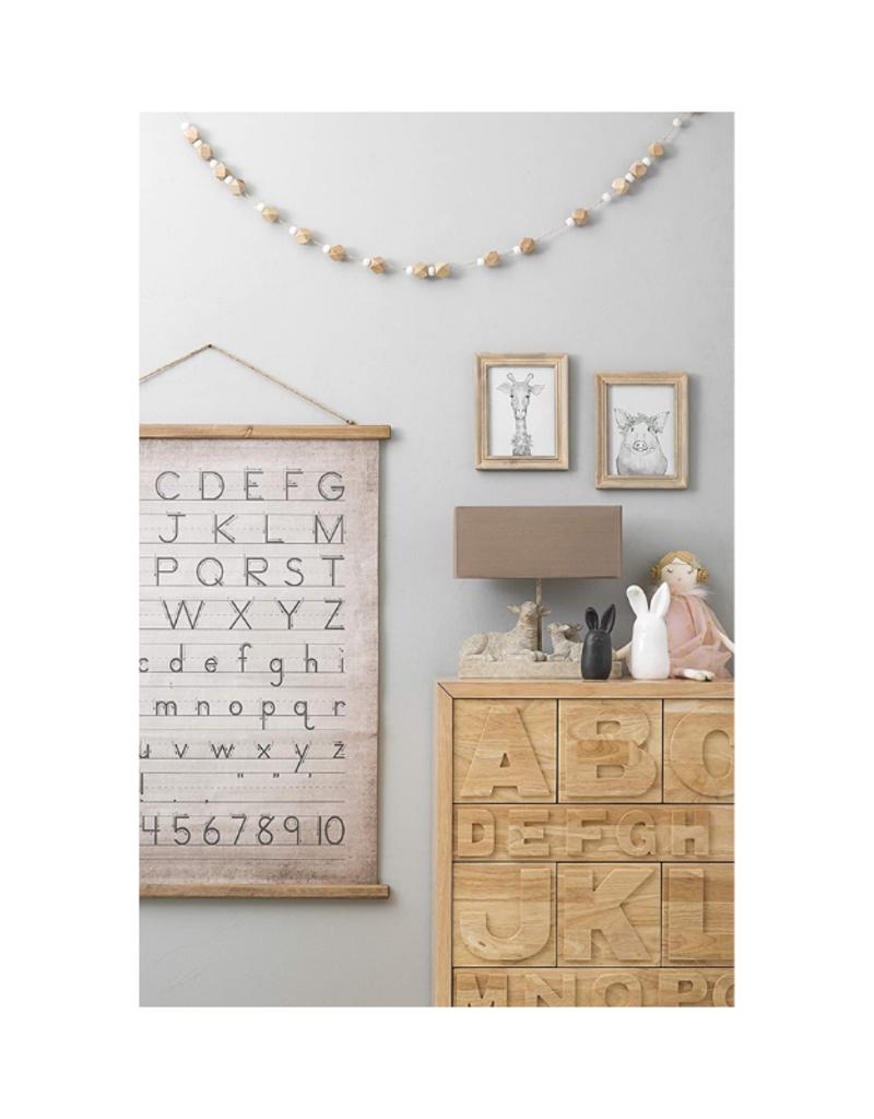 Canvas and Scroll Alphabet Wall Decor