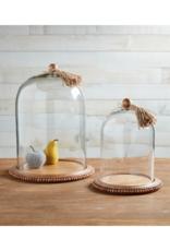 Beaded Wood & Tassel Cloche by Mudpie
