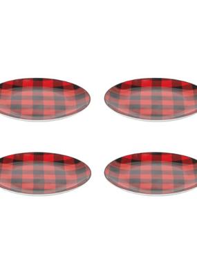 Set of 4 Buffalo Check Dessert Plates