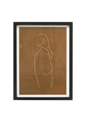Bloomingville Femme Outline Framed Art