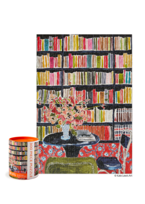 Werkshoppe Books with Flowers 300 Pc Puzzle