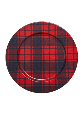 Lodge Plaid Charger Plate