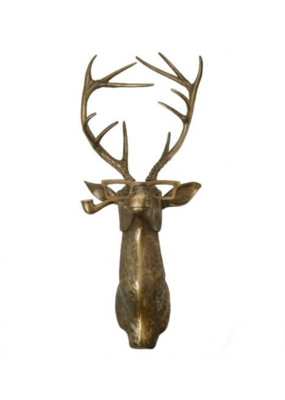 Frankie the Deer Brass Wall Mount
