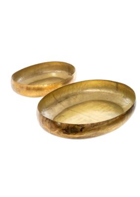 Indaba Trading Aged Gold Decor Tray