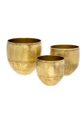 Indaba Trading Aged Gold Pot