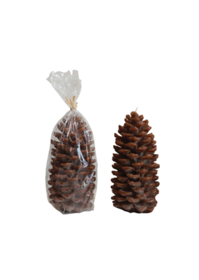 Pinecone Candle Small Brown