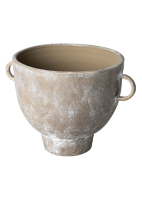 Deya Rustic Brown Ceramic Vase Large