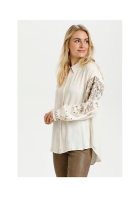 Cream Trilla Embroidery Shirt in Eggnog by Cream
