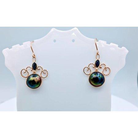 Earrings Prl, Sapp Ac Dangle 14ky 218100039