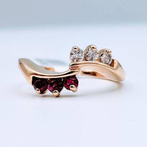 Ring Ruby Diamond 14KY 218100115