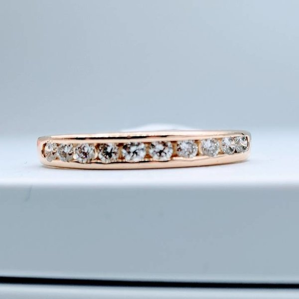 Ring Channel Band 1/3ctw Round 14kt SZ 7.5
