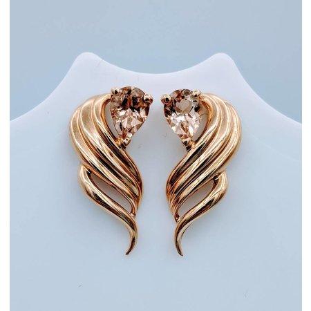 Earrings Morganite 14KY 218100167