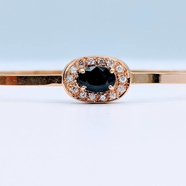Bracelet Bangle Sapphire and Diamond 14KY 218100206