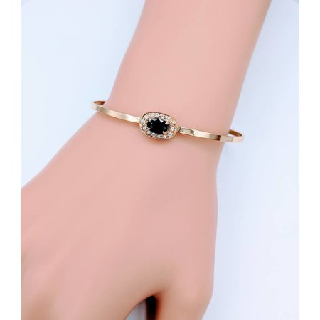 Bracelet Bangle Sapphire and Diamond 14KY 218100206