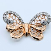 Brooch Diamond Butterfly 18K 41810007 v