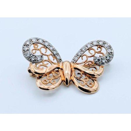 Brooch Diamond Bufferfly 18k 418110008