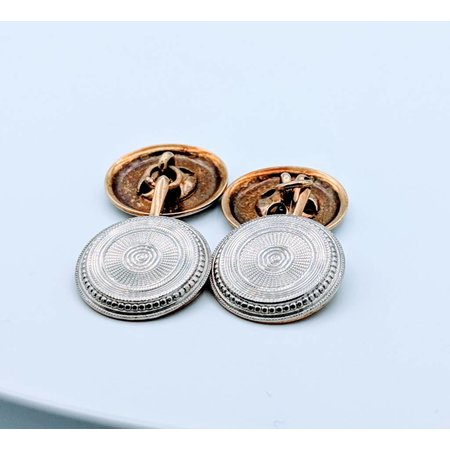Cufflinks Disc Diamond 14k 418110025 v