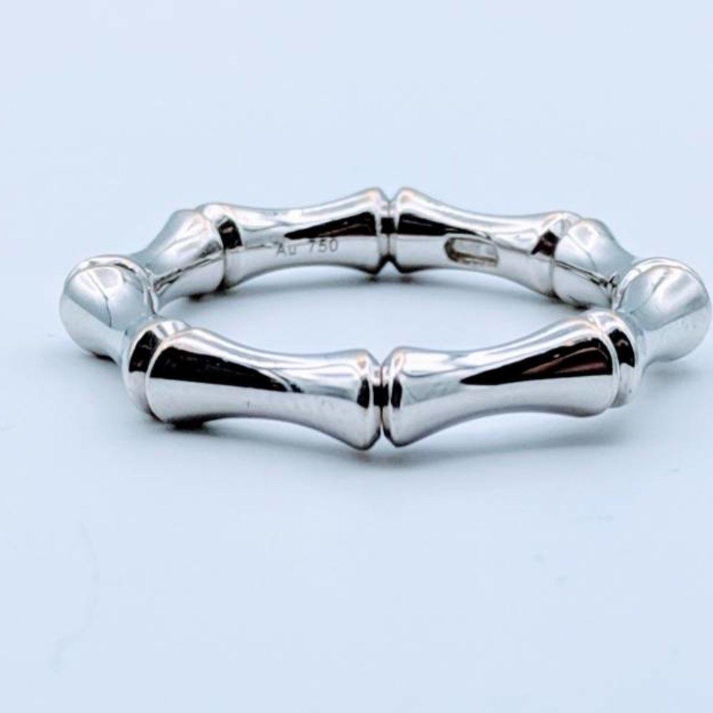 47603cdd6e7c4 Ring Gucci Bamboo Stretch Ring 18K Sz 6-8 418110105