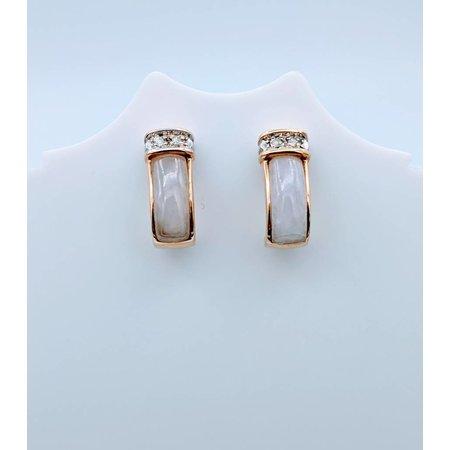 """Earrings Quartz Diamond """"J"""" 14k 418110057"""