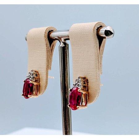 Earrings Lab Pink Diamonds 10K 118120022