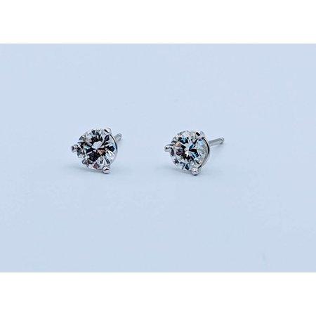 Earrings .49ctw 14kw Martini Studs 418110152