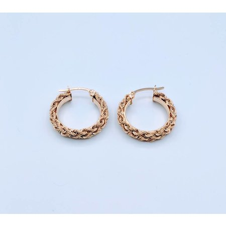 Earrings Rope Hoop 14ky 418110209