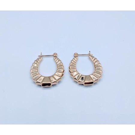 Earrings Hoop Deco Style 14K 218120120