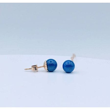 Earrings Lapis Stud 18K 218120118