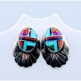 Earrings Zuni Multi Stone Inlay SS 219030013
