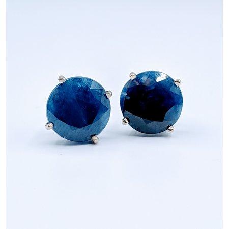 Earrings 9ctw Sapphire Studs 14kw