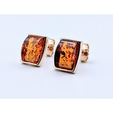 Earrings Amber Stud 9x6.5mm 119030016