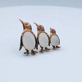 Brooch Penguin Moonstone/Ruby C. Bucherer 18k 219040031