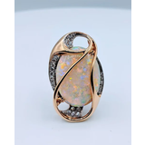 Pendant/Pin  Opal and Diamond 18k 219040022