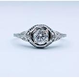 Ring Antique .50ct Diamond 18kw Sz7.5 119010006