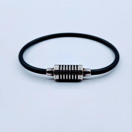 Bracelet Tiffany SS/Enamel Rubber Cord 219050034