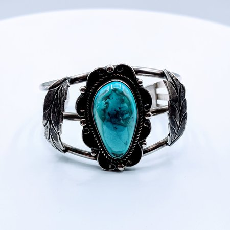 Bracelet Cuff Native American Turquoise SS 219050054