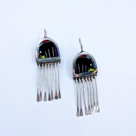 Earrings Zuni Bear Multi Stone SS 219050064