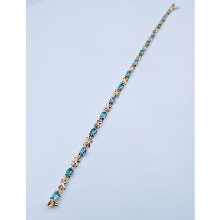 """Bracelet Topaz 14K 8"""" 218120040"""